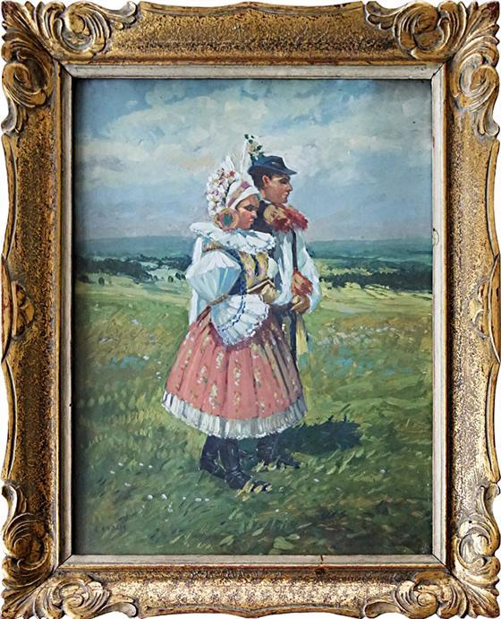 Dívka a chlapec v kroji