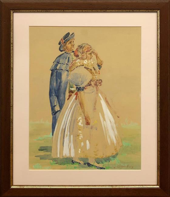 Muž a dívka v kroji