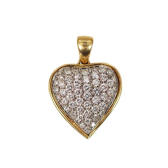 Zlaté srdce s brilianty