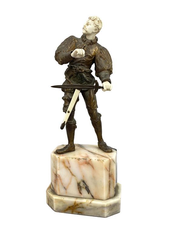 Bronzová soška se slonovinou