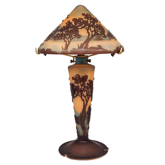 Skleněná lampa La Rochere