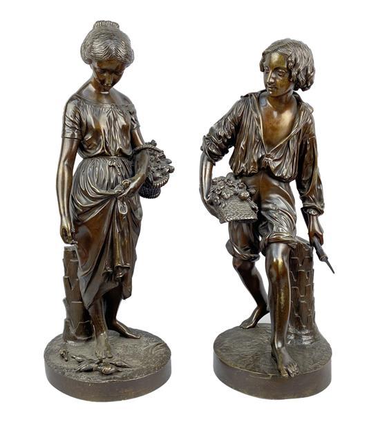 Párové bronzové sochy