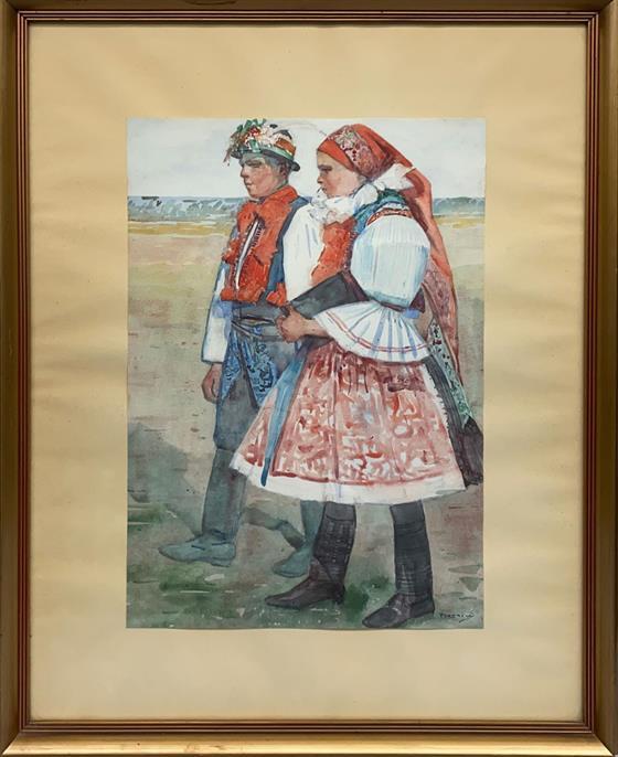 Chlapec a dívka v kroji