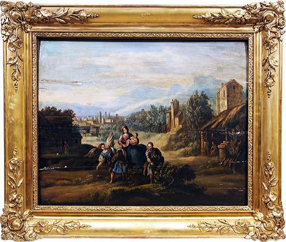 Barokní obraz - putování s andělem