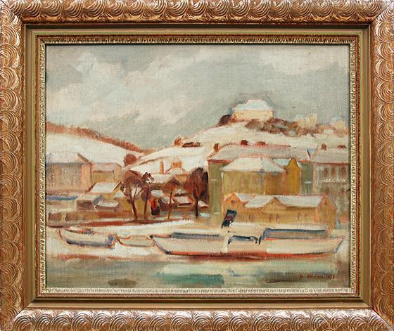 Zimní přístav na Smíchově