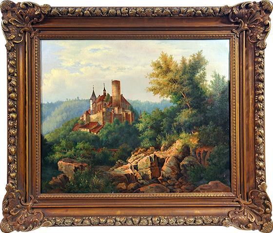 Romantická krajina s hradem