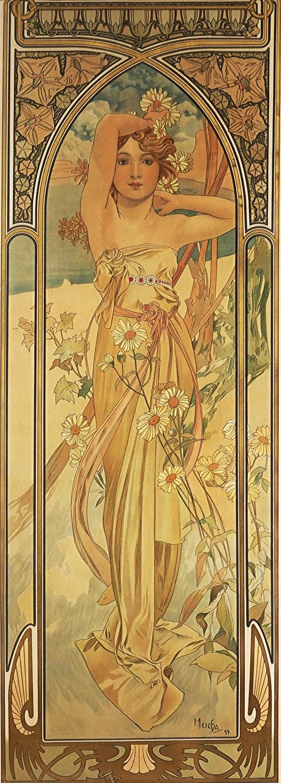 Denní jas - ze série denní doby z roku 1899 - velký formát